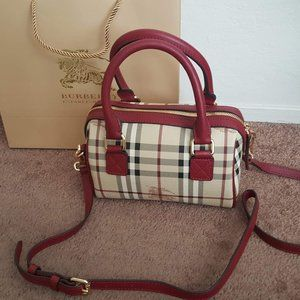 AUTHENTIC BURBERRY DOCTORS BAG RED